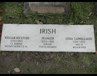 New Stone, Irish Plot, Greenwood Cemetery, New Castle, PA